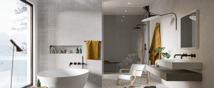 Piastrelle grandi formati per bagno: le nuove tendenze